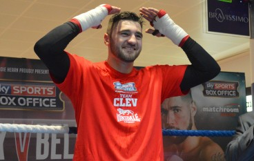 Photos: Clev holds open workout in Cardiff