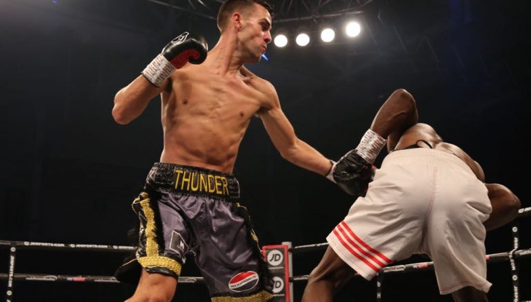 Nathan Thorley trades knockdowns on his way to his 11th win